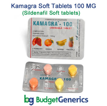 Kamagra Soft tablets 100 MG to treat erectile dysfunction